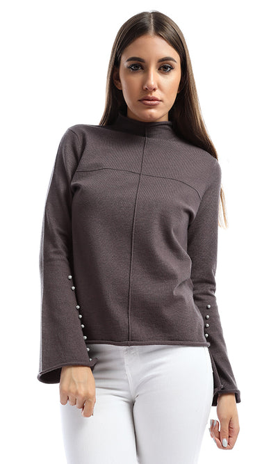 51339 Women's Trumpet Long Sleeve Winter Grey Pullover