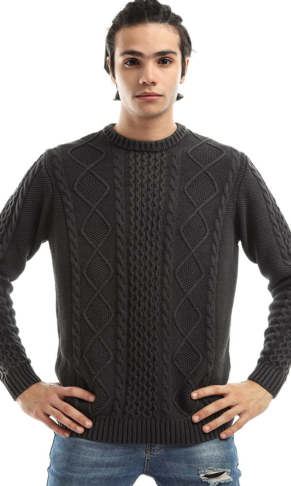 Chic Winter Men Long Sleeves Pullover - Grey
