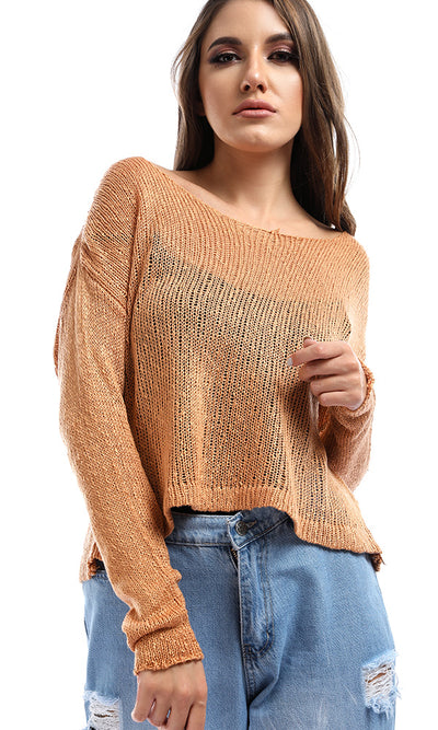 51389 Glodenrod Cropped Knitted Pullover
