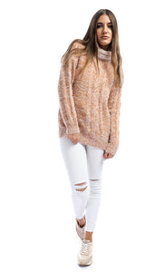 51403 Soft Heather Orange Mohair Pullover
