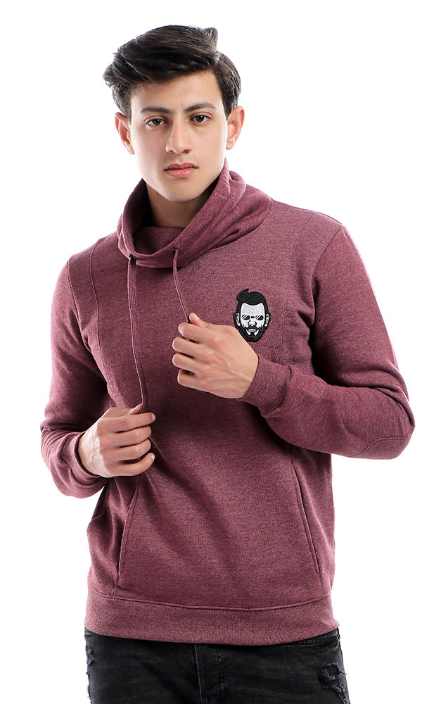 Zip Bi-Tone Hemed Brown &Burgundy Hoodie