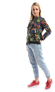 51497 Rhosyn Side Pockets Multicolour Hoodie