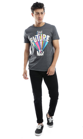 53020 The Future Is Now Dark Grey Tee