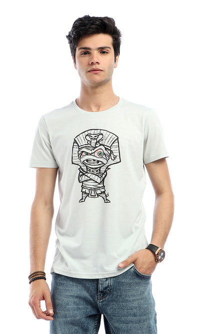 53059 Printed Pharaonic New Style Off-White T-shirt
