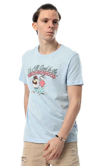 53061 All Good In The Neighborhood Light Blue Tee