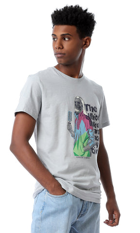"53074 ""Game Of Thrones"" Printed Slip On Grey T-shirt"