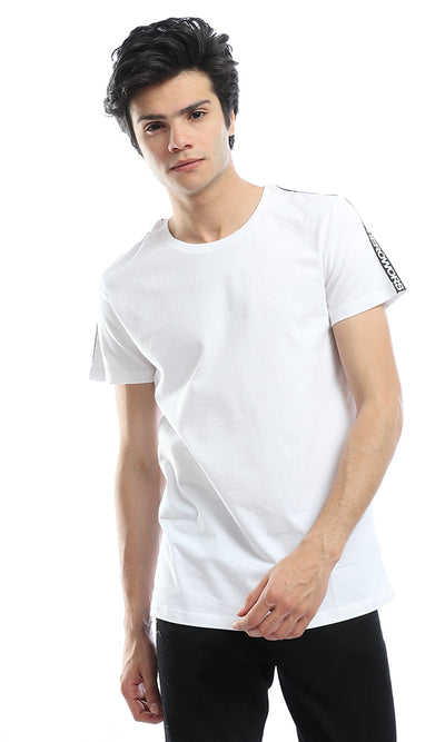 53201 Shoulder Batch White T-shirt