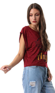 53662 Baseball Club Maroon Cropped Tee - Ravin