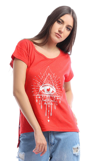 53685 Eye Of Providence Red Heather T-Shirt