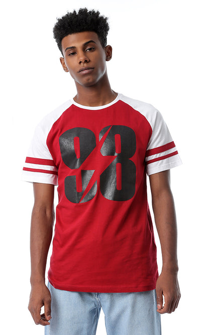 "53772 Bi-Tone Printed ""98"" Dark Red T-shirt"