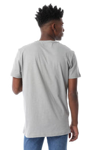 53928 Trendy Regular Fit Soli Heather Grey Tee - Ravin