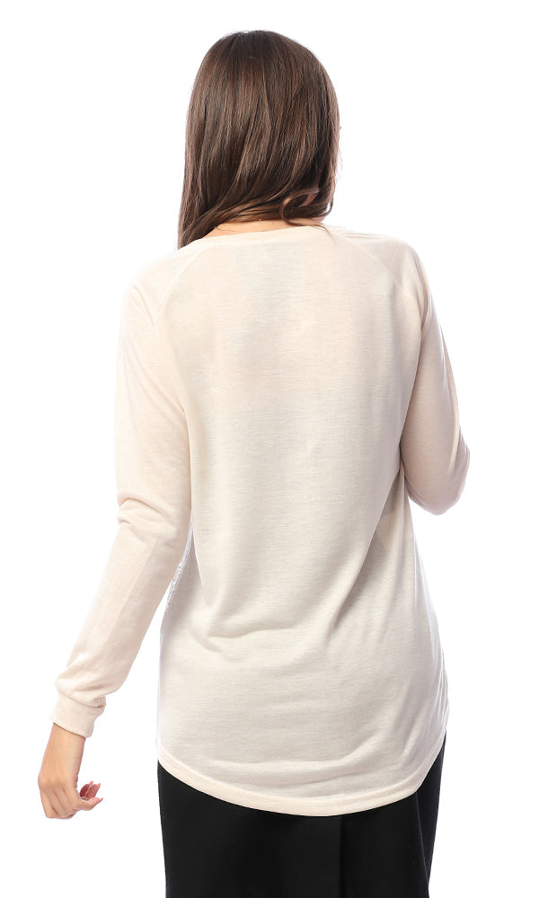 54201 54201-Women Long Sleeve T-Shirt-L.Beige