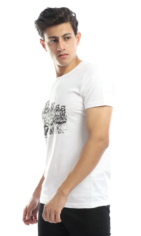 54275 CairoKee Collection Structured Round Neck White Tee