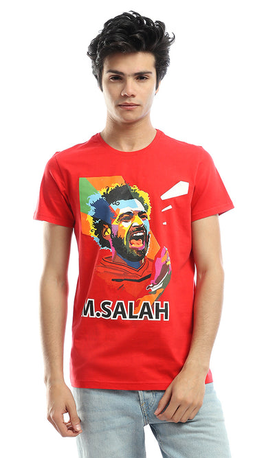 54277 M.Salah Colourful Red Tee