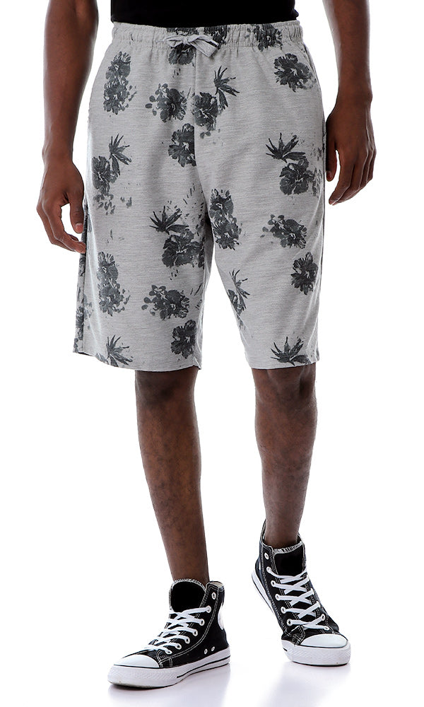 54299 Drawstring Floral Fashionable Shorts