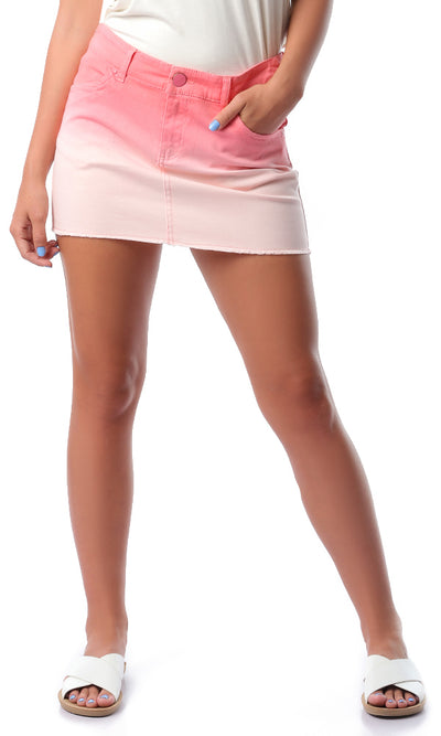 54322 Summer Coral Shades Short Jeans Skirt