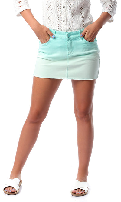 54323 Green Shades Casual Short Skirt