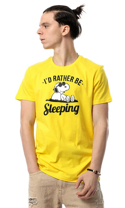 54342 I'D Rather Be Sleeping Yellow Tee