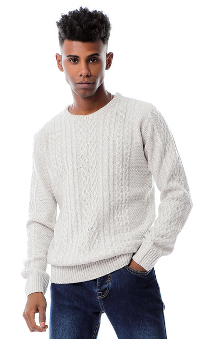 Soft Light Weight Knit Heather Light Grey Pullover