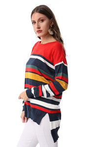 55447 Striped Navy Blue Catchy Pullover