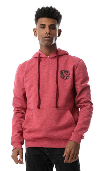55640 Kangaroo Heather Burgundy Casual Sweatshirt - Ravin