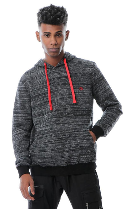 55647 Kangaroo Pocket Slip On Heather Black Sweatshirt - Ravin
