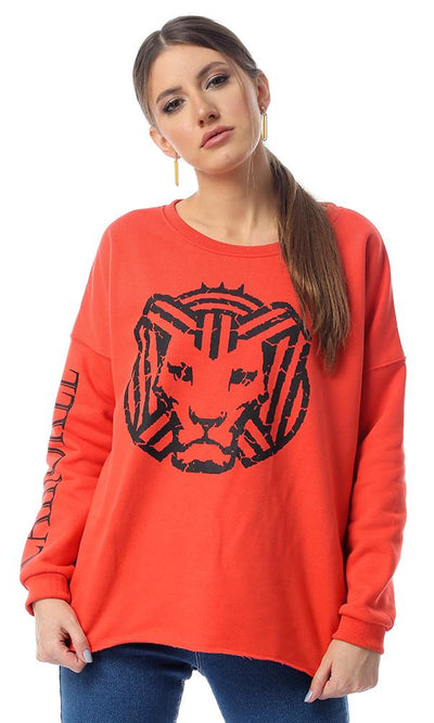 "55817 ""Cairokee"" Printed Long Sleeves Watermelon Sweatshirt - Ravin"