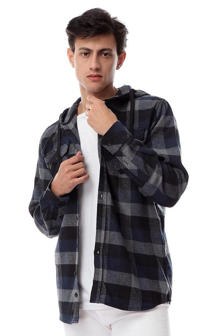 55878 Plaids Winter Shirt With Two Front Pockets - Multicolour