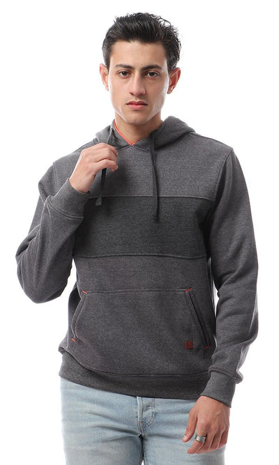 55887 Kangaroo Pocket Heather Dark Grey Sweatshirt