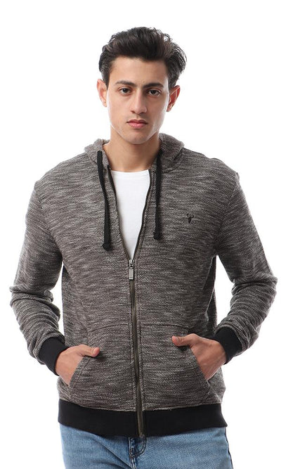 55947 Comfy Hooded Neck Heather Olive Winter Hoodie - Ravin