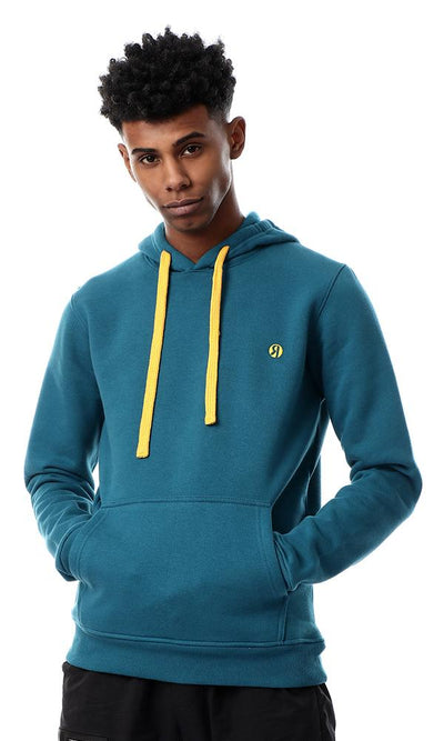 55992 Front Kangaroo Pocket Slip On Teal Green Sweatshirt - Ravin