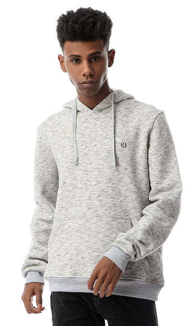 56000 Comfy Trendy Kangroo Heather Light Grey Hoodie - Ravin