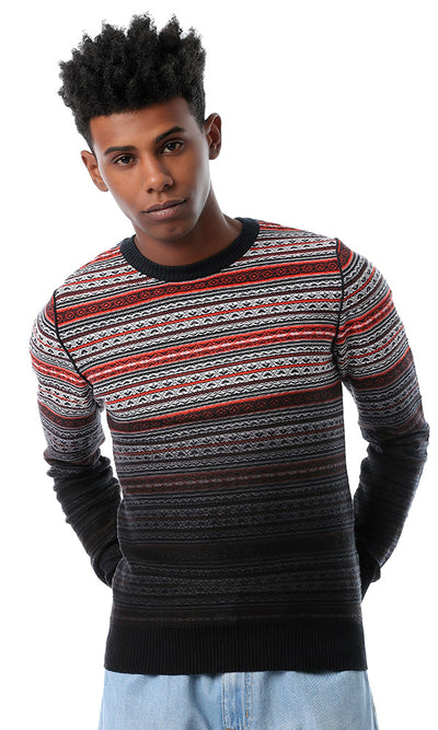 Self Knitted Lightweight Multicolour Pullover