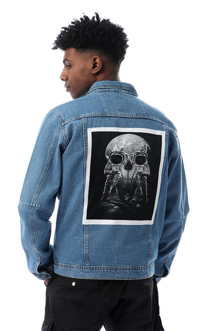 56320 Back Stitched Patch Light Blue Denium Jacket - Ravin