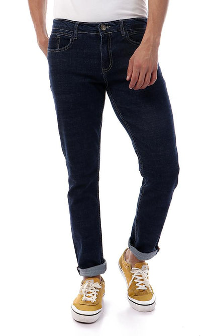 56718 Denim Navy Blue Solid Trendy Slim Jeans