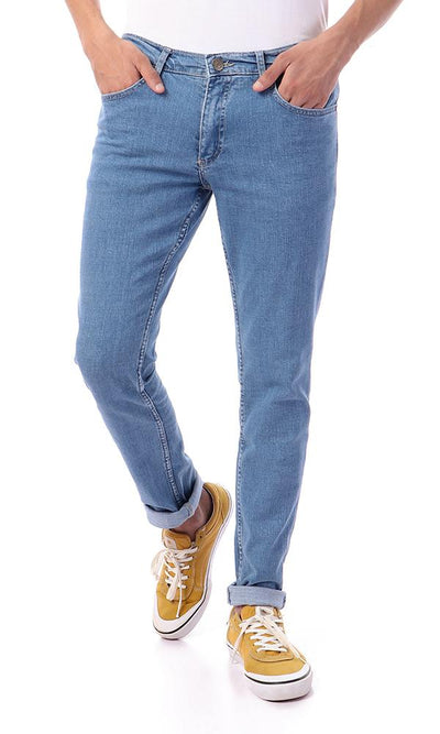 57284 Casual Slim Fit Light Blue Solid Jeans - Ravin