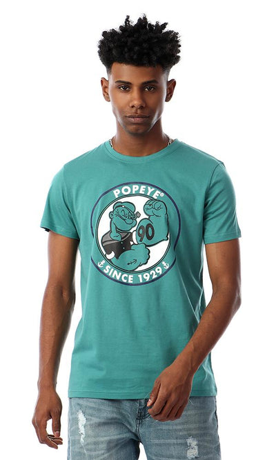 57439 Popeye Cool Printed T-Shirt - Sea Forest Green - Ravin