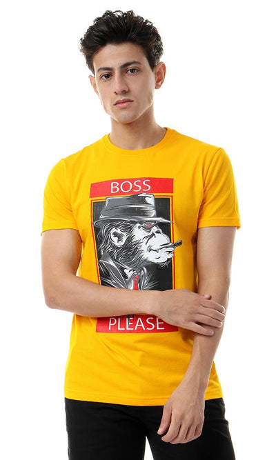 57477 Boss Monkey Mango Short Sleeves T-shirt