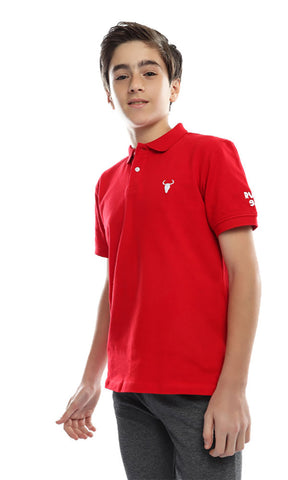 90000 Trendy Boys Polo T-Shirt - Red