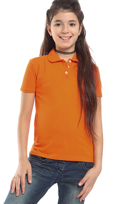 90029 Girl Polo T-shirt - Orange