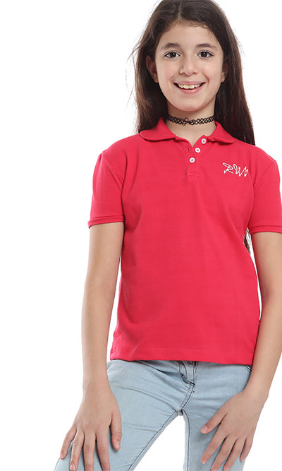 90030 Girl Polo T-shirt - Fuchsia