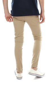 90045 Boys Pin Straight Jeans - Beige