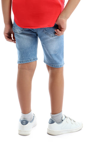 90108 Stitched Light Blue Shorts