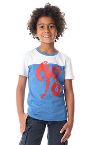90595 Boys Bi-Tone Blue & Grey Regular Tee