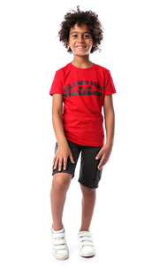 90608 Boys Red Too Busy Being Handsome Tee