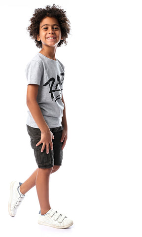 90617 Boys RAD Printed Grey Cool Tee