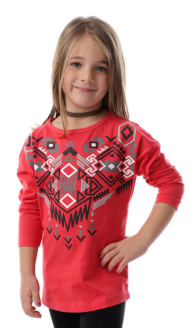 90708 Girls Random Prints Watermelon T-shirt