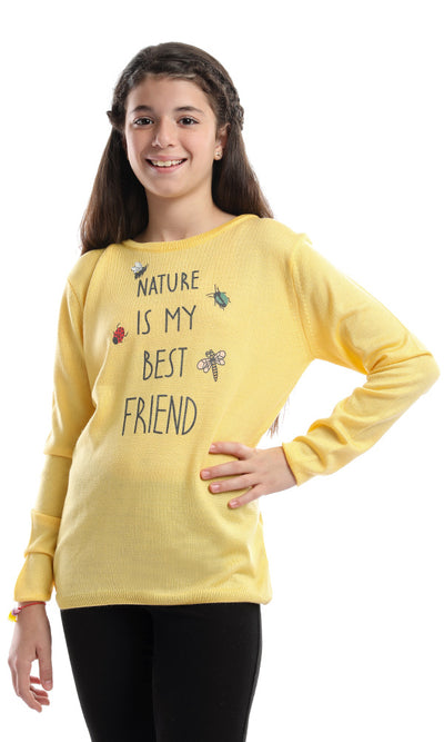 91111 91111-Girl Pullover-Yellow