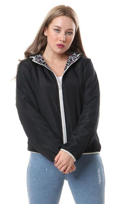 94311 Padded Fleece Puffer Jacket - Black - Ravin