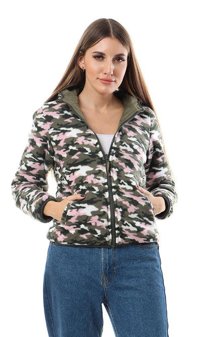 94326 Double Face Polyester Bomber Jacket - Olive - Ravin